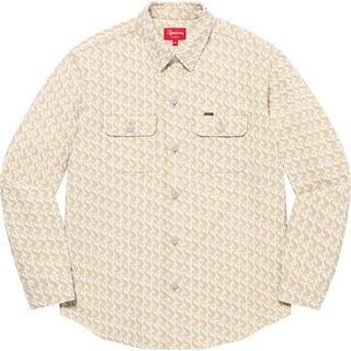 シュプリーム(Supreme)のSupreme Monogram Denim Shirt Tan S(シャツ)