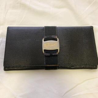 サマンサタバサ(Samantha Thavasa)のSamantha Thavasa 長財布 クロコ ブラック 黒(財布)