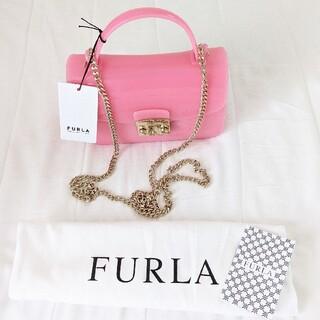 Furla - 新品 FURLA フルラ キャンディ ピンク メトロポリス チェーン バッグ