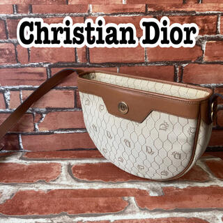 Christian Dior - 希少‼️ ディオール ハニカム柄 ショルダーバッグ PVC ゴールド金具 ロゴ