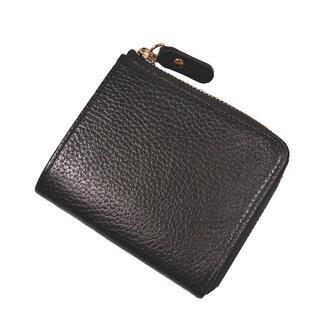 GANZO - ★【新品】GANZO Fico 二つ折り財布 小銭入れ付き 黒 × 金 L字