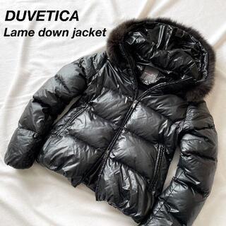 デュベティカ(DUVETICA)のデュベティカ アダラ ブラック×ラメ フォックスファー着脱可 40(M)(ダウンジャケット)