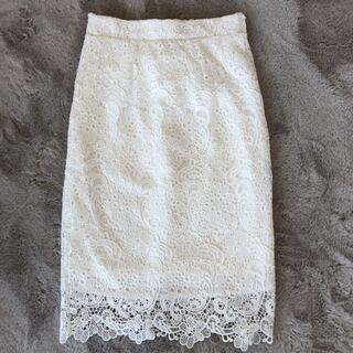ロイヤルパーティー(ROYAL PARTY)の新品未使用タグ付 ルーミーズ レースタイトスカート(ひざ丈スカート)