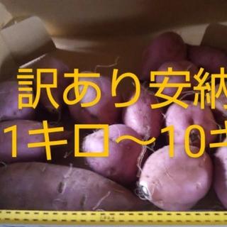 訳あり1kg【無農薬・無肥料40年】安納芋 サツマイモ  さつまいも