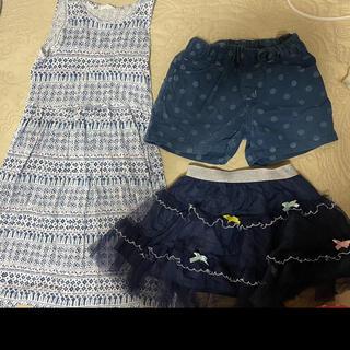 エイチアンドエム(H&M)の夏服 3点セット ワンピース スカート ショートパンツ(スカート)