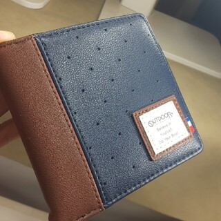 アウトドア(OUTDOOR)の新品未使用タグ付き、OUTDOOR、折りたたみ財布、紺(折り財布)