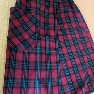 フェリシモ(FELISSIMO)の膝丈チェックスカート(ひざ丈スカート)