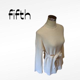 フィフス(fifth)の⭐ベルトオシャレ⭐fifth フィフス ニットセーターMサイズ(ニット/セーター)