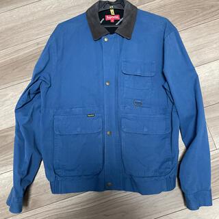 Supreme - Supreme field jacket blue 青 襟レザー18awMサイズ