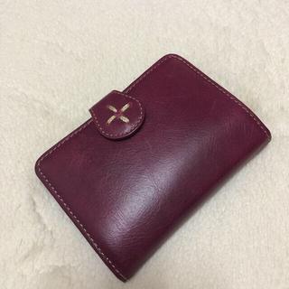 フェリシモ(FELISSIMO)の日本職人 鮮やか本革がま口折り財布パープル(財布)