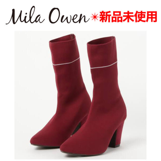 Mila Owen - Mila Owen ミラオーウェン ソックスブーツ ボルドー ストレッチブーツ