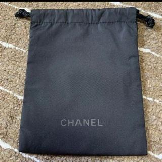 CHANEL - CHANEL 保存袋 巾着袋 ポーチ ブラック