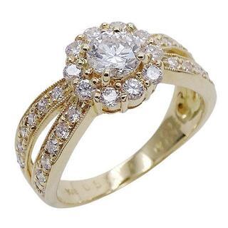 ポンテヴェキオ(PonteVecchio)のポンテヴェキオ ダイヤモンド リング 指輪 K18YG D0.51 約11号(リング(指輪))