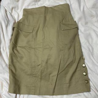 ルシェルブルー(LE CIEL BLEU)の膝丈スカート(ひざ丈スカート)