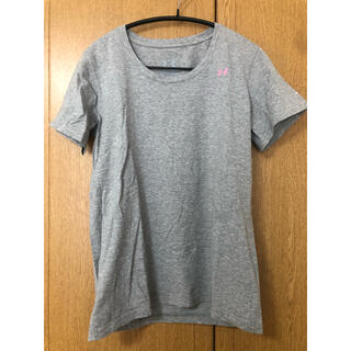 アンダーアーマー(UNDER ARMOUR)のアンダーアーマー トレーニングTシャツ グレー レディース LGサイズ(Tシャツ(半袖/袖なし))