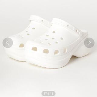 crocs - 厚底クロックス 白