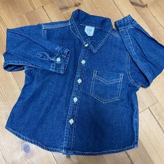 ベビーギャップ(babyGAP)のbabyGap 薄いデニムシャツ 8090100(Tシャツ/カットソー)