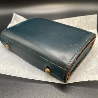 エムピウ(m+)のエムピウ オールレザー クロムエクセル ブルー  ミッレフォッリエ(折り財布)