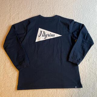 ビームス(BEAMS)の【美品 未使用】ピルグリム Tシャツ 長袖 サイズL ネイビー(Tシャツ(長袖/七分))