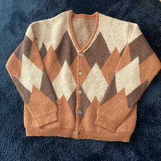 Needles - vintage mohair cardigan アーガイル