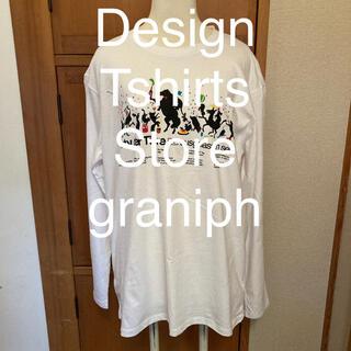 Design Tshirts Store graniph - graniph グラニフ カットソー ロンT ユニセックス 白 L