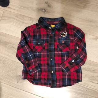 LAUNDRY - ランドリー★暖かネルシャツ 110サイズ