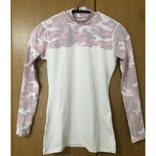 プーマ(PUMA)の PUMAライトコンプレッショングラフィックモックネック長袖シャツ /レディース(Tシャツ(長袖/七分))