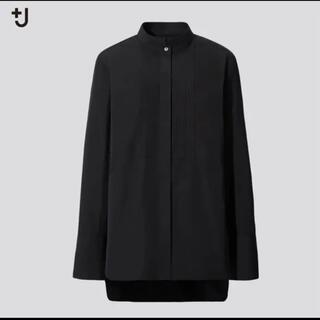 UNIQLO - ユニクロxジルサンダー  ブラック スピーマコットンシャツ エムフォルテ