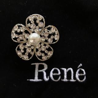 ルネ(René)のReneルネ★お花ブローチ★スワロフスキー(ブローチ/コサージュ)