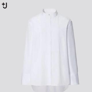 Jil Sander - ユニクロxジルサンダー  ホワイト スピーマコットンシャツ エムフォルテサイズ