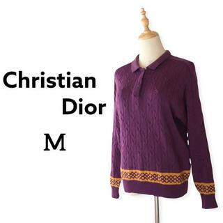 クリスチャンディオール(Christian Dior)のクリスチャンディオール スポーツ ウールセーター  アーガイル Mサイズ 紫(ニット/セーター)