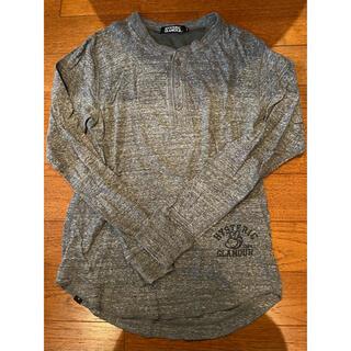 ヒステリックグラマー(HYSTERIC GLAMOUR)のヒステリックグラマー ヘンリーネック カットソー S グレー(Tシャツ/カットソー(七分/長袖))