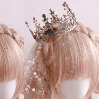 BABY,THE STARS SHINE BRIGHT - 黒王冠 ゴシックロリータ やみかわ  vintage ハロウィン 結婚式 パンク
