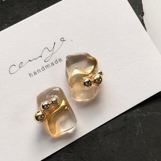 piece of gold ice pierce/ earring