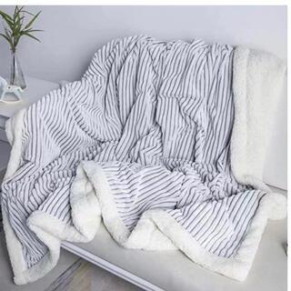 毛布 シングル ブランケット 家庭洗濯 北欧風 冬 150x200cm・グレ一