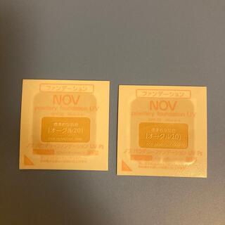 ノブ(NOV)のノブ ファンデーション オークル20 2回分(ファンデーション)