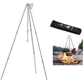 焚き火 三脚 トライポッド 折りたたみ 式 キャンプ 用品 アウトドア BBQ