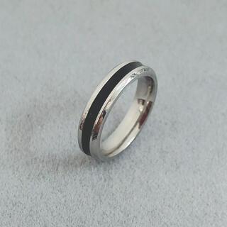 シンプルブラックリング ステンレスリング  ステンレス指輪  ピンキーリング