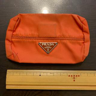 PRADA - PRADA  ティッシュケース オレンジ
