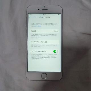 iPhone - バッテリー100% iPhone 6s シルバー 16 GB SIMフリー 良品
