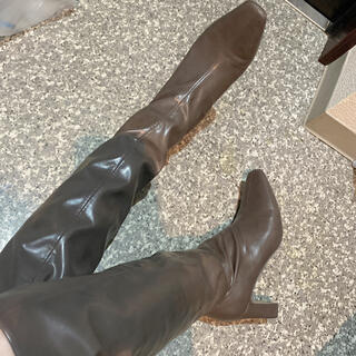 スナイデル(snidel)のsnidel ニーハイブーツ 23.5cm(ブーツ)