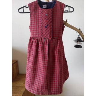 familiar - ジャンパースカート 赤チェック【ファミリア】