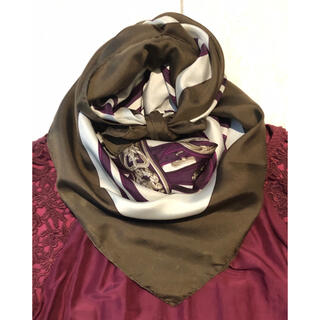 Hermes - 秋冬色のガラ エルメス スカーフ カレ90