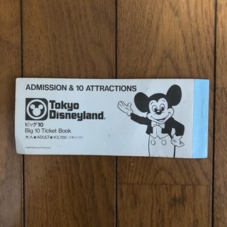 Disney - ディズニービッグ10チケット アトラクション券 Big10