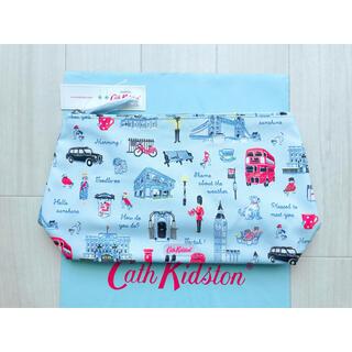 キャスキッドソン(Cath Kidston)の【新品】キャスキッドソン マットジップコスメティックバッグ ミニロンドンアイコン(ポーチ)