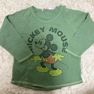 ミッキーマウス(ミッキーマウス)のUNIQLO ミッキーカットソー 110(Tシャツ/カットソー)