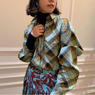 ドリスヴァンノッテン(DRIES VAN NOTEN)のDRIES VAN NOTEN 新品未使用品 チェックシャツ 34サイズ(シャツ/ブラウス(長袖/七分))