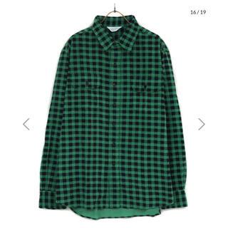 アンユーズド(UNUSED)のHound tooth corduroy shirt(シャツ)