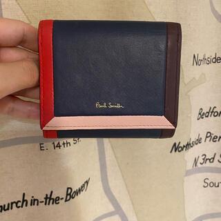 ポールスミス(Paul Smith)のポールスミス マルチストライプ 折り財布 ネイビー(折り財布)