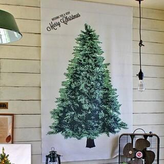 クリスマスタペストリー ミニサイズ クリスマス タペストリー 壁掛け ツリー